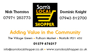Sam's Local Shopper business card