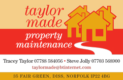 Taylor Made property maintenance Business Card